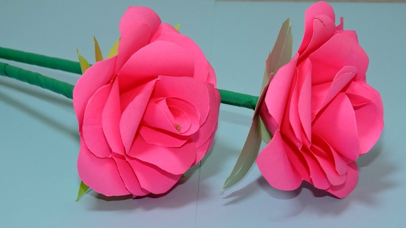 How to Make Small Rose Flower with Paper Making Paper Flowers Step by Step - Cambo News Report