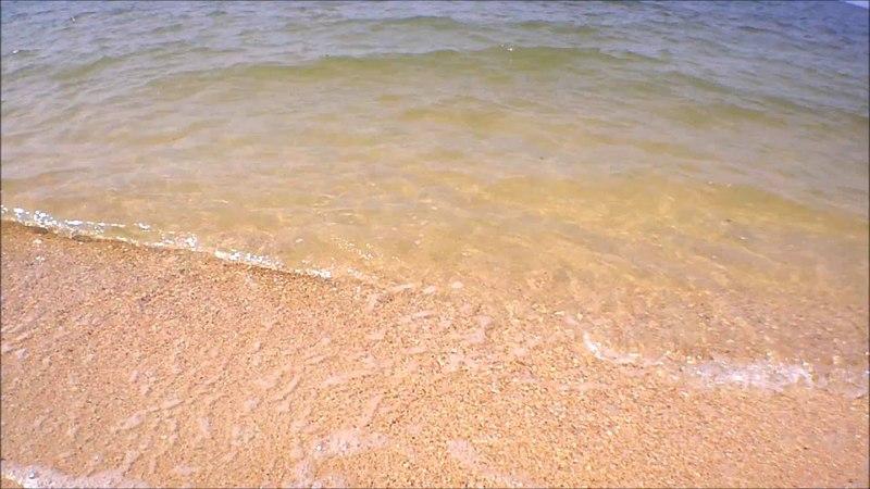 Голубицкая - Азовское море лето 2018, пляж район Дельфинария