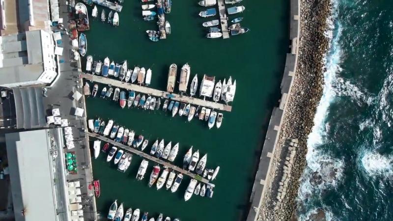 Jaffa Port Tel Aviv Israel from Above 4K Dji Mavic Air נמל יפו תל אביב
