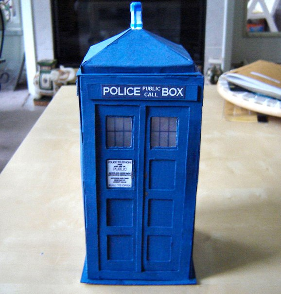 paper tardis Here is a ~20cm model of the tardis (or a police call box) made of the cardboard from cereal how to make a tardis model home reuse by.