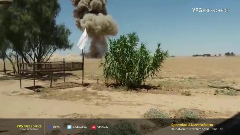16 июня в районе Дейр-эз-Зор бойцы СДС уничтожили машину ИГИЛ, начинённую взрывчаткой