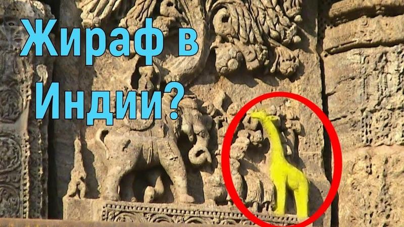 Индийские барельеф жирафа и африканцев