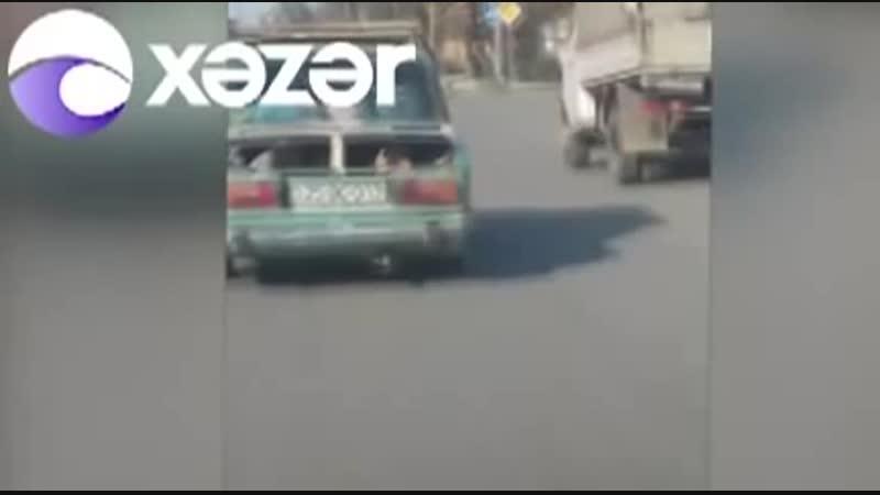 В Азербайджане водитель вез малолетних в багажнике автомобиля Азербайджан Azerbaijan Azerbaycan БАКУ BAKU BAKI Карабах 2018 HD