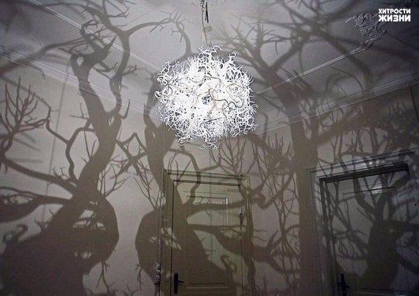 Волшебная лампа - сказочный лес в комнате.