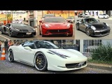 Supercars of Curitiba 5 - Porsche 991 Turbo S, F12, Novitec, Aventador, MP4 SLS R8 Gallardo & More!