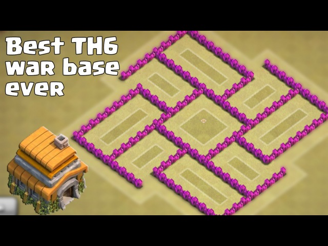 Clash of clans - Best TH6 (Town Hall 6) War Base Ever [Anti Giant, Anti Balloon] Replays