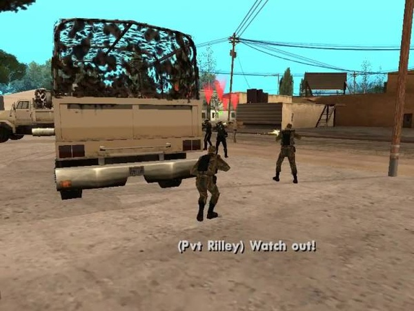 GTA SA DYOM Army missions 1 Bullseye Bitches