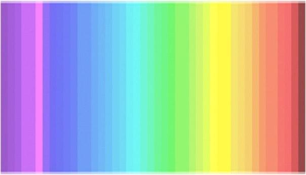 Тест: сколько цветов вы здесь видите: ↪ Приоткроем секрет: только 25% людей видят все оттенки этого спектра.