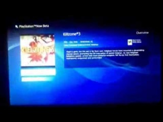 Playstation Now Beta showing Killzone 3