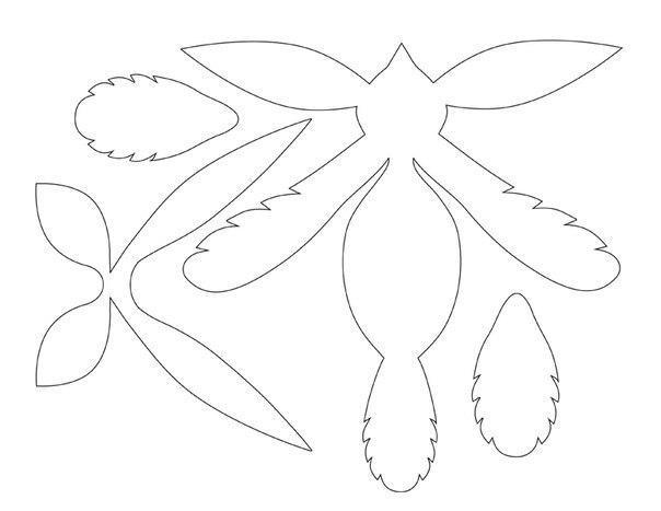 Шаблоны для птицы счастья из бумаги своими руками