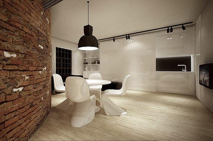 Дизайн квартиры-студии в Лодзи / Польше от Moomoo Architects - http://kvartirastudio.