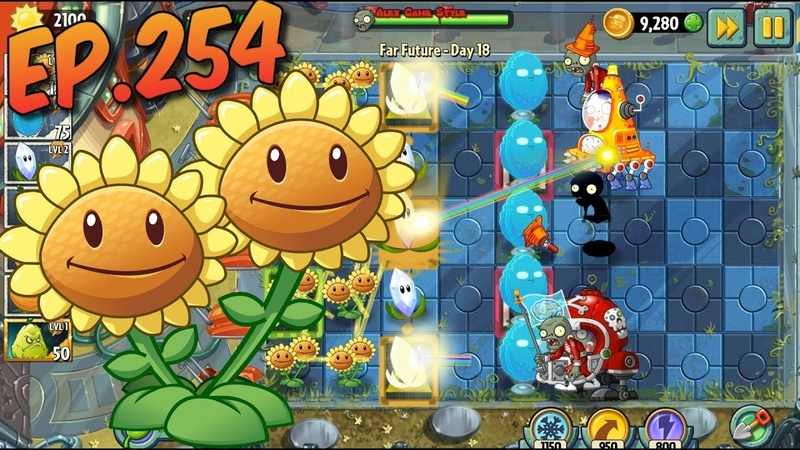 Plants vs. Zombies 2 || Produce at least 6000 sun - Far Future Day 18 (Ep.254)