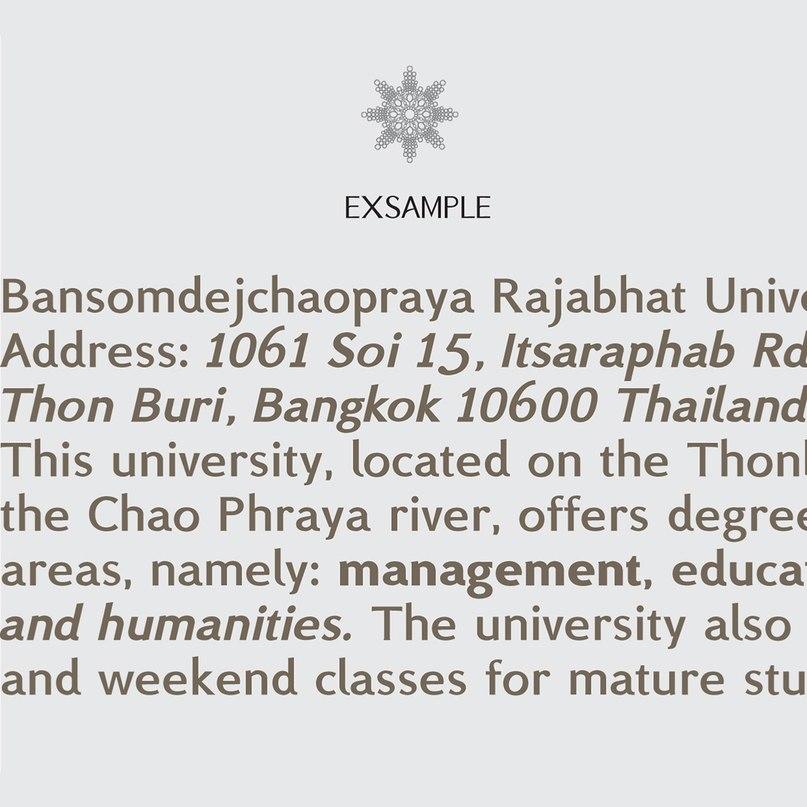 шрифт BSRU Bansomdej fonts