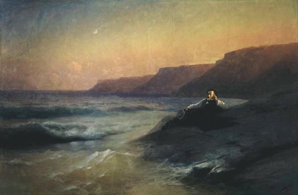 ПУШКИНИСТИКА АЙВАЗОВСКОГО Айвазовский редко изменял любимой теме водной стихии. Перед ее лицом человек обычно бессилен, и поэтому люди на картинах художника, как правило, гибнут. Только Пушкин,