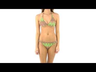 Solar Women's Tan Thru Missoni Gold Bikini Set | SwimOutlet.com