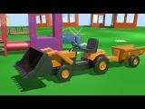 Капуки Кануки мультики про машинки - На Детской Площадке - экскаватор погрузчик