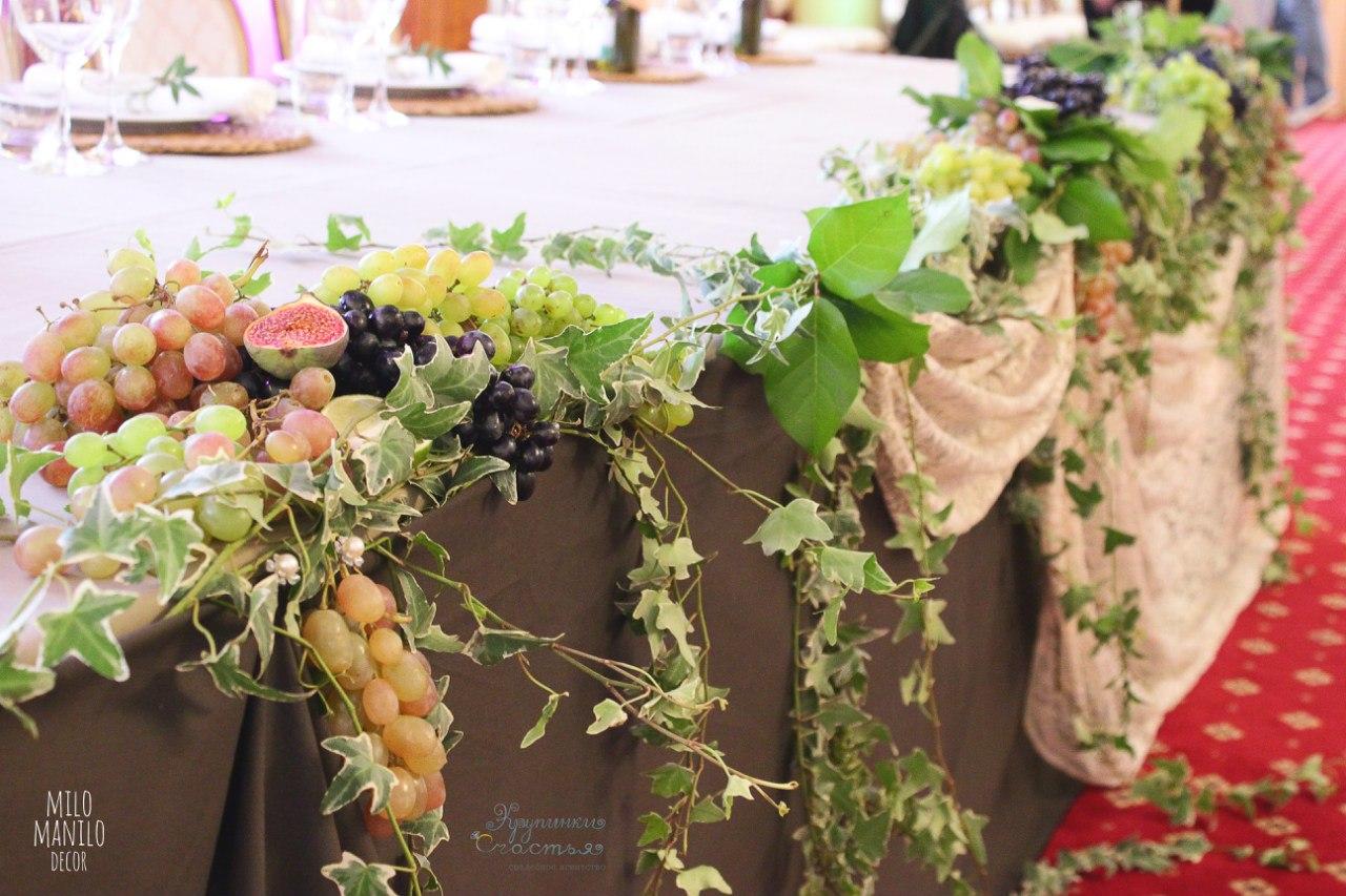 фрукты как украшение итальянской свадьбы