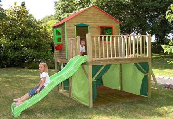 Детский домик из дерева для дачи своими руками