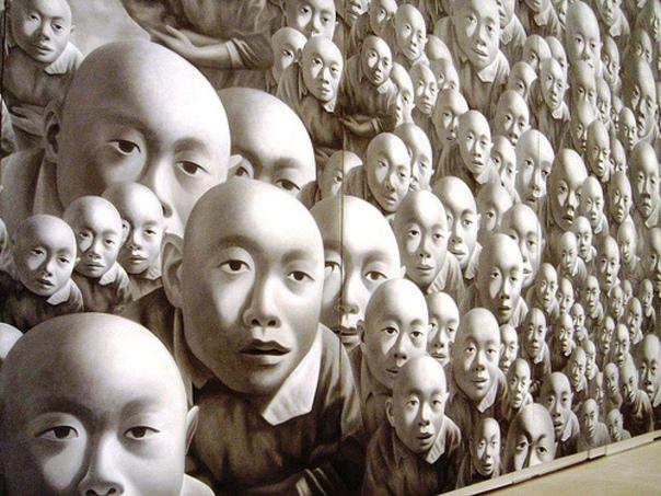 Fang Lijun, Фан Лицзюнь (; b1963, Handan, Hebei Province, China)-- современный китайский художник, представитель циничного реализма.Циничный реализм родился в Пекине в конце 80-х годов