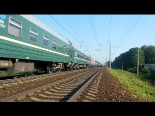 Электровоз ЧС200-003 с поездом №055 (СПб → Москва).mp4