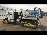 Awesome Machine!!...Vacuumcleaner Truck Machine Leaf Collection Garbage Vacuum Sweeper