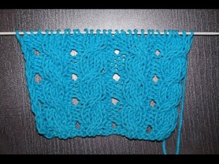 Вязание спицами узор со жгутиками для начинающих  ///  Knitting pattern with flagella for beginners