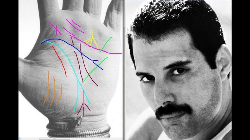 Фредди Меркьюри. Анализ рук . Хиромантия.