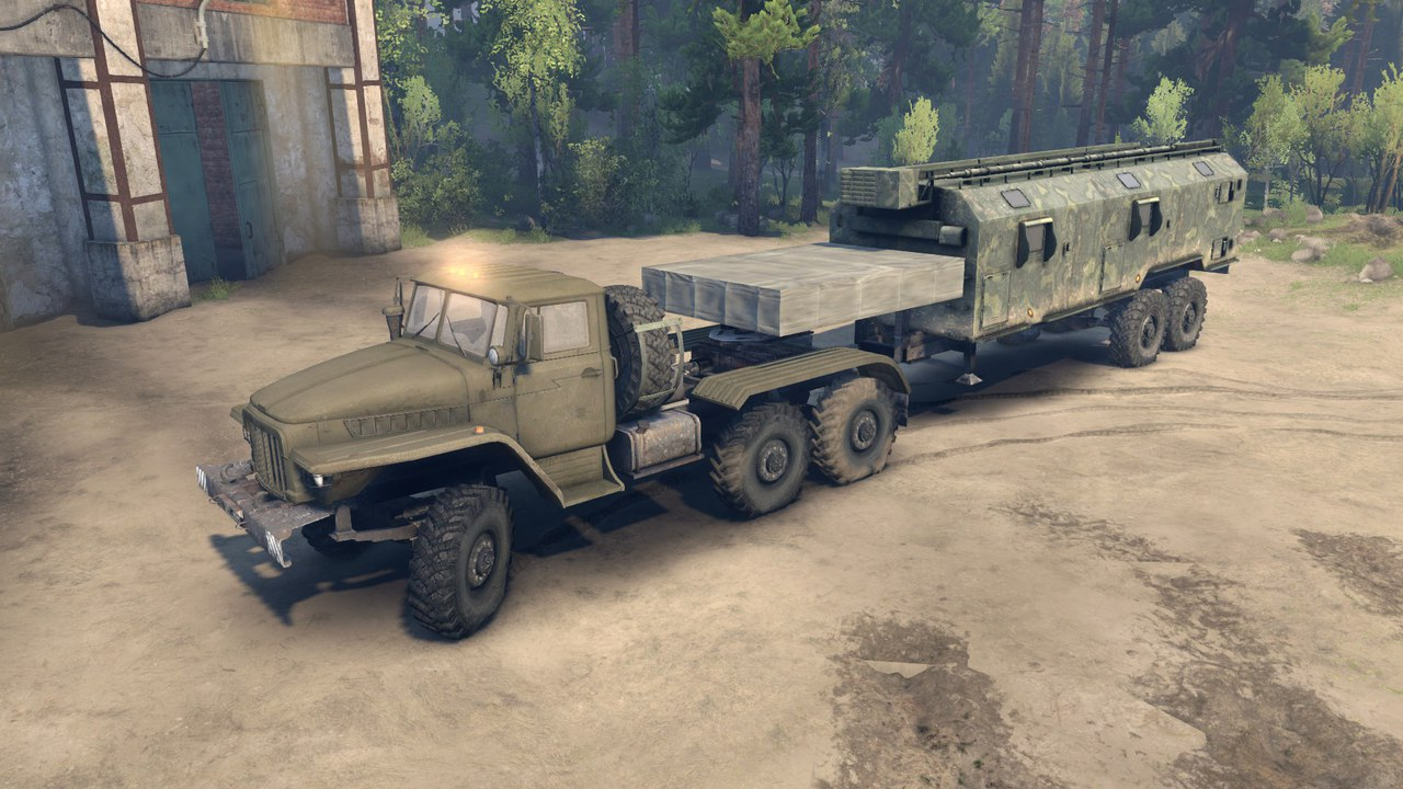 Активный автопоезд Урал-380С-862 (10х10) для Spintires - Скриншот 2