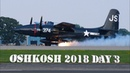 EAA Airventure Oshkosh Day 3 - T6 Texans, F7F Tigercat Tire Blowout! and more!