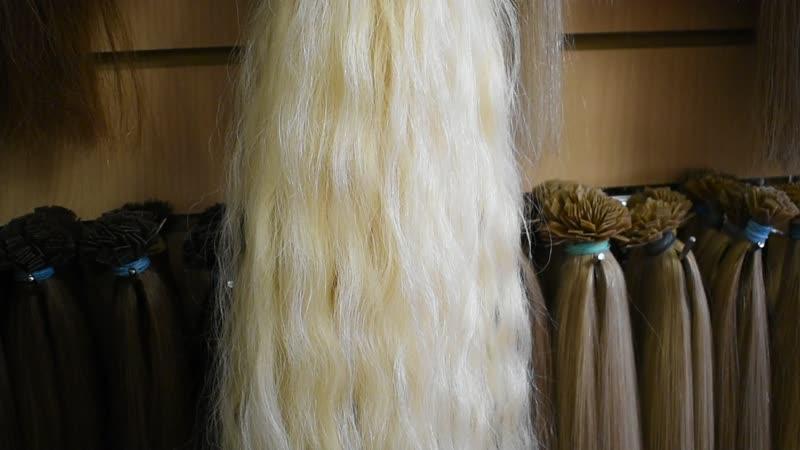Осветлённый донорский волос Природная волна волос пушистый 75 см 216 капсул