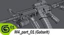 M4 carbine part 01 Gabarit