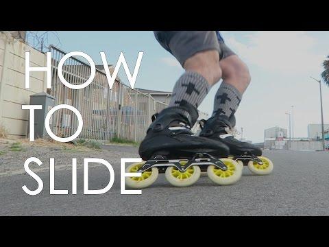 INLINE SKATING TUTORIAL - HOW TO SLIDE ON INLINE SKATES VLOG10