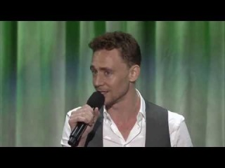 Tom Hiddleston sings Jungle Books The Bare Necessities with Christina Hendricks at D23