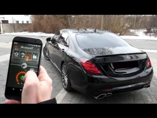Mercedes-Benz S350d W222 - V222 with Maxhaust active exhaust and Carlsson bo.mp4