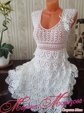Платье крючком (6 фото) - картинка