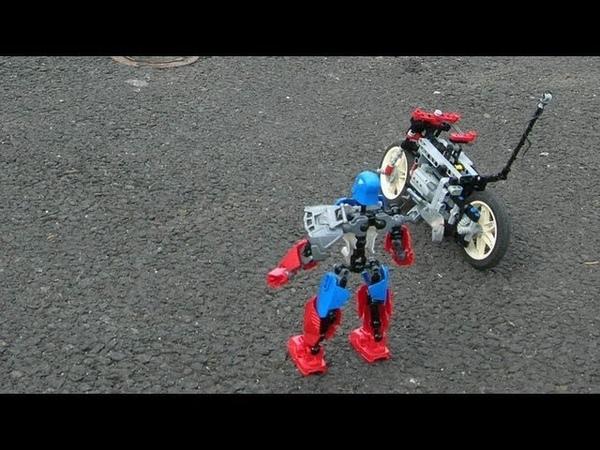 Lego technic shaft driven rc motorbike