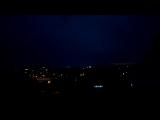 Молнии сверкают на Западном жилмассиве