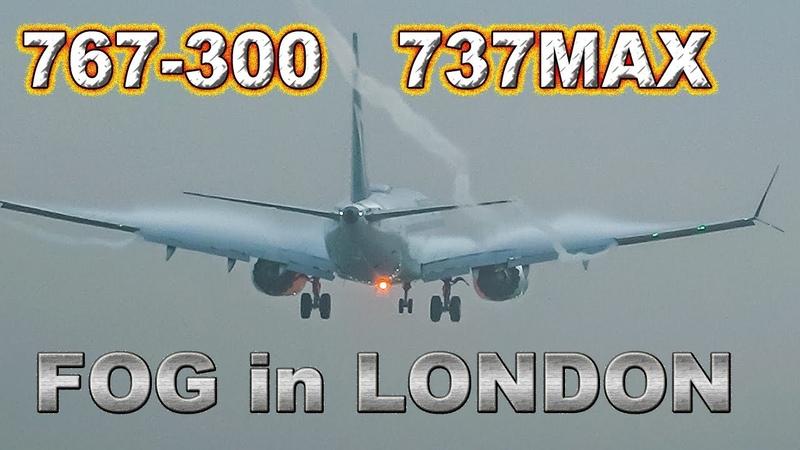 Westjet 737MAX 767 landing in fog