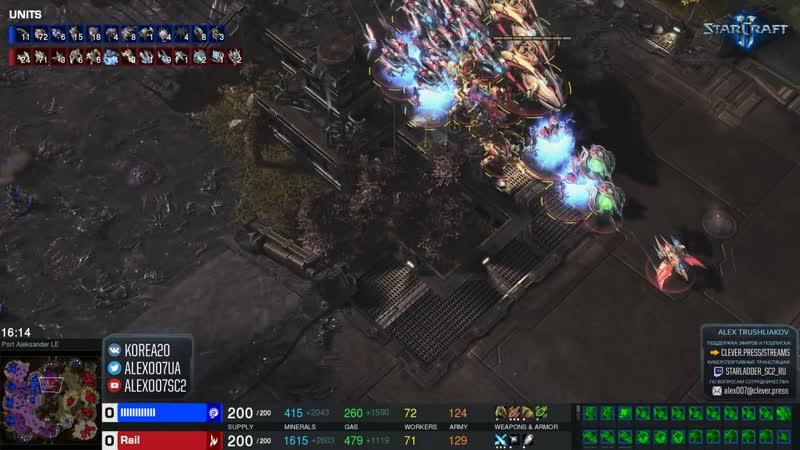 [Alex007SC2] Чемпион России против Чемпиона Мира: Rail vs Serral в StarCraft II