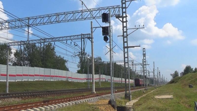 Новый входной светофор для 4 пути перед станцией Железнодорожная!