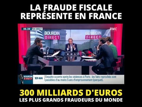 La fraude fiscale represente 300 MILLIARDS D€