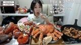 3 KG King Crab + 3 KG Lobster + Steamed Prawns Korean Beautiful Girl Mukbang