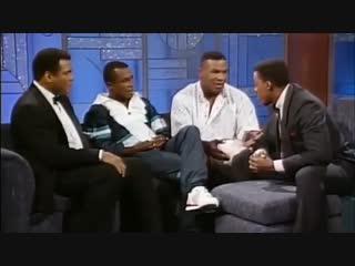 Когда на одной передаче собрались Мухаммед Али,Майк Тайсон и Шугар Рэй Леонард.