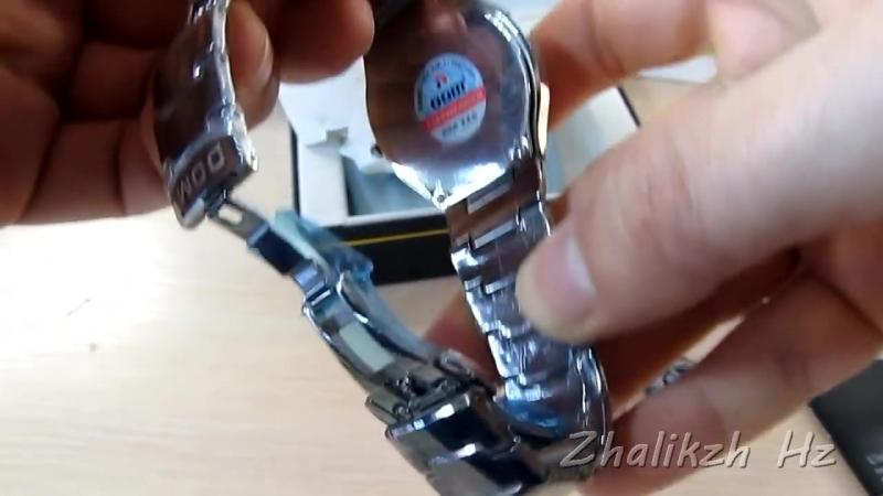 Наручные часы мужские DOM – царапаем, пилим напильником – вольфрамовая сталь
