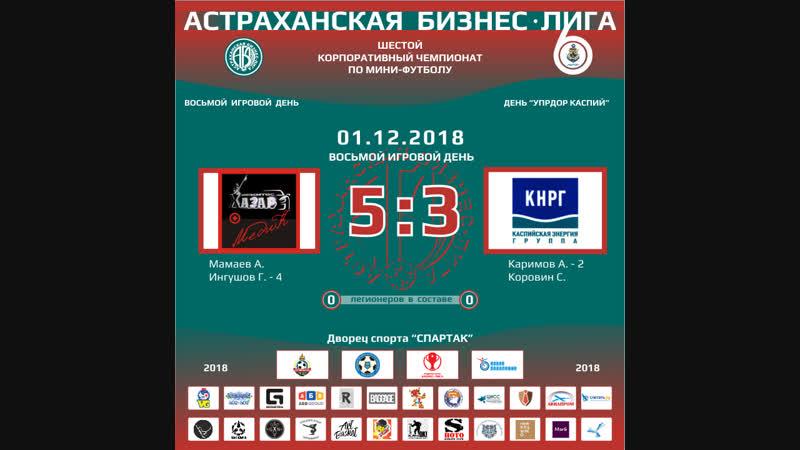 Хазар-МЕДИК - Каспийская Энергия (01-12-2018) 1 тайм