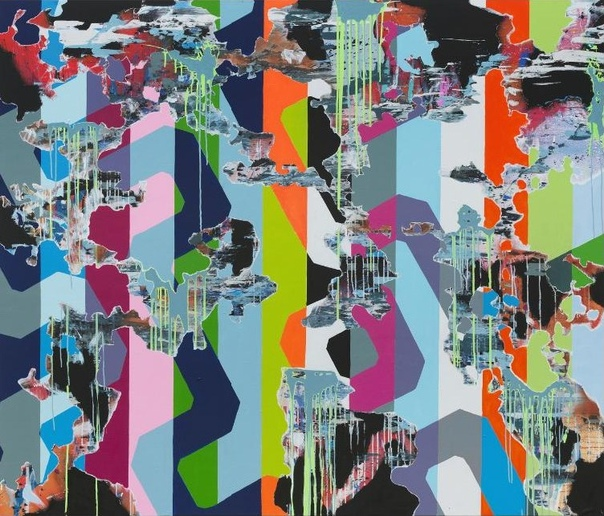 Tobias Lehner (1974, Regensburg, Germany). Untitled, 2014 acrylic on canvas170 × 200 cm