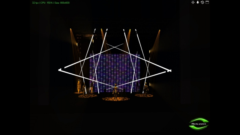 Визуализация работы светового оборудования для концерта в ДК Горького 15 Марта
