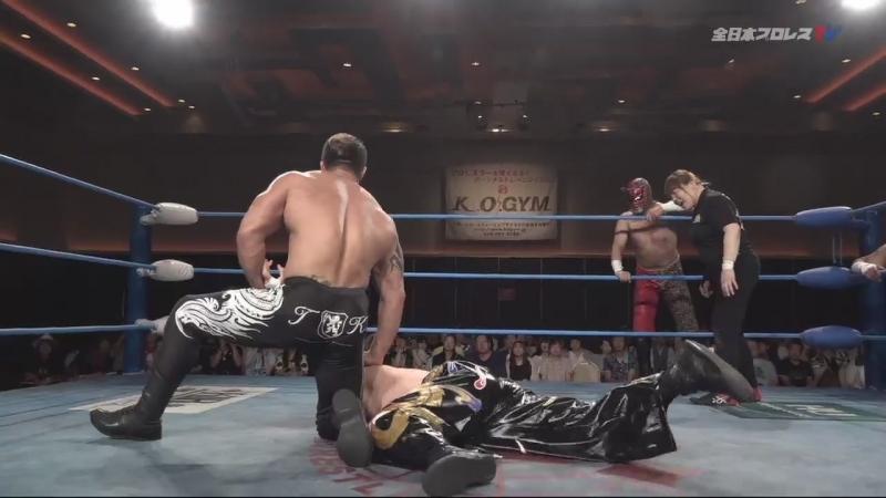 Zeus, Joe Doering, The Bodyguard vs. TAJIRI, KAI, Mushuku no Sekiko (AJPW - Dynamite Series 2018 - Day 12)