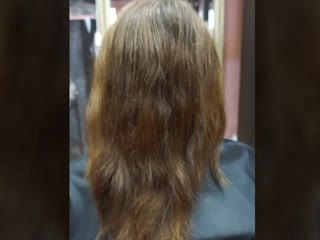 Выравнивание цвета волос после 'магазинской' краски & 100% окрашивание седины & стрижка &