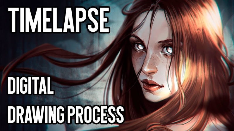 LIGHT Timelapse: digital drawing process | Joe's ART